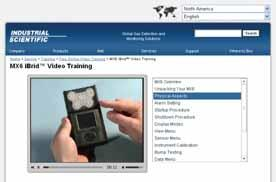 Training and Support Tools 5 3 PROFESSIONAL ONLINE TRAINING COURSES Industrial Scientific s professional online training courses capture the classroom training experience in an online format.