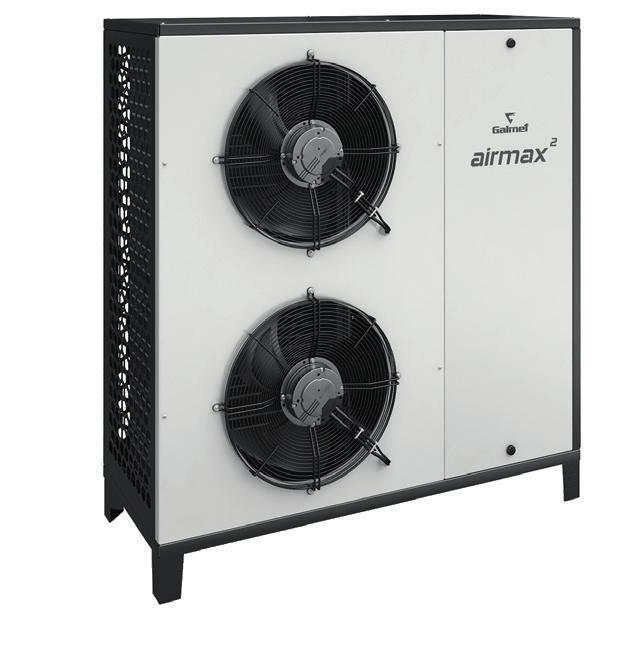 BAFA up A ++ to Bundesamt für Wirtschaft und Ausfuhrkontrolle Airmax 6-9 GT AIR SOURCE HEAT PUMP airmax 60 FOR CH AND DHW High COP value: up to 4,7 (A7W35).
