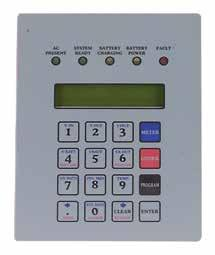 CENTRAL & INVERTER SYSTEMS EMERG-POWER SYSTEMS Control Panel & Display Meter Functions AC Voltage Input AC Voltage Output AC Current output Battery Voltage Battery Current VA Output Inverter Watts