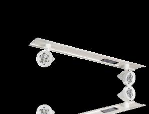 ARCHITECTURAL TS Series 6, 12 and 24 Volt T-Bar Units Each unit comes with two (2) off-white EF-18 lamp heads (standard) with one 9W wedge-based lamp per head.