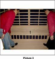 (Refer to picture 1) Connect the power connector from the back of Bench Support Panel to the floor Panel.