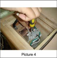 the screw (Picture 3) Insert the white wire into N and tighten the screw