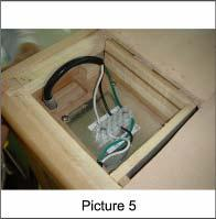 (Picture 5) 10.The power cord is located at the bottom of the back panel.