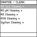 Sanitising or cleaning the RO Cartridge(s), Continued Cleaning (continued)