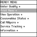 Description of Ready Menu Water Quality Diagram 1 Diagram 2 Item Description Elix Water Quality View the quality of the water filling the Reservoir.