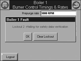 833-3577 CB-FALCON SYSTEM OPERATOR INTERFACE Safety Parameter Verification When any of the safety configuration parameters are changed, the safety parameter verification procedure must be performed