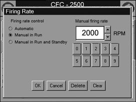 Press <Clear> to clear the current value. 4. Enter the desired RPM setting using the numeric keypad (refer to Table 4-2, Fan Speed Settings). 5. Press <OK>.