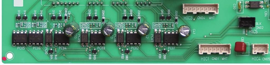 Turn OFF the power, and check the continuity of HIC+ and HIC on the HIC PCB.