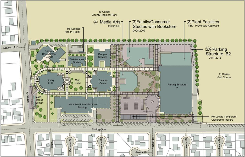 LOS ANGELES MISSION COLLEGE MASTER PLAN PHASING PLAN: PHASE I - PROPOSITIONS A & AA PROJECTS Existing Campus All buildings and structures proposed under this initial phase are projected to be