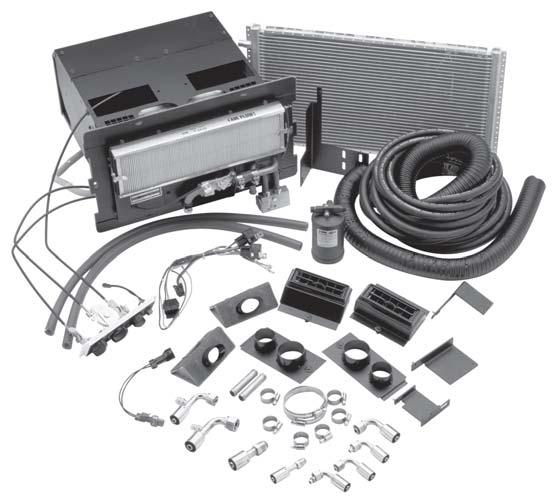 FACTORY TYPE DROP-IN EVAPORATOR KIT FREIGHTLINER, FORD, STERLING - CARGO SERIES TRUCKS 1990 and ON An integrated air conditioning package for the LCF Freightliner, Ford/Sterling Cargo applications.