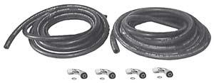 HOSE INSTALLATION KITS FOR ALL UNITS w/radiator OR REMOTE MOUNTED CONDENSER Hose Length & Size Includes 9850 18 ft.