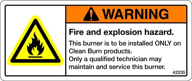 Operators manual clean burn models cb 1750 cb 2501 and cb 3250 label fireexplosion hazard burner installation and service 42321 burner model sciox Image collections