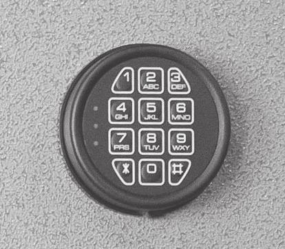 INSTALLING THE BATTERY ON A T-811 ELECTRONIC LOCK Step 1 - Rotate the keypad