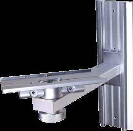 construction n Lockable wheels WALL MOUNTS Height and tilt adjustable