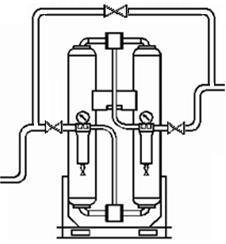 Optimal Installation Diagram 1 Air Compressor 2 After Cooler 3 CLEARPOINT Inline Water Separator 4 CLEARPOINT 5.0 Micron (Grade G) Filtration 5 Receiver Tank 6 CLEARPOINT 1.