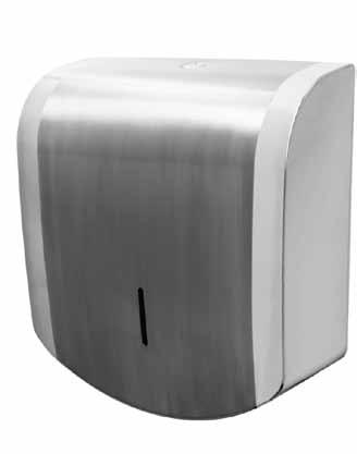 Recessed locking mechanism. Full seam welded fabrication. Stylish brushed & polished stainless steel paper towel dispenser. Excellent for demanding prestige locations.