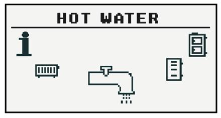 12.2 Hot water 12.2.1 Selection of circuit Allows you to select the number of hot water circuit.