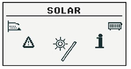 12.8 Solar (option available only with external module Can) 12.8.1 State 12.8.2 Settings Turn on delta Turn off delta Function Description Temp.