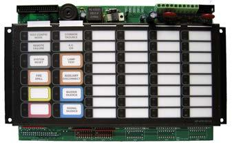 LED Annunciator Module provides 48 programmable bi-colored LEDs. The RAX-1048TZDS connects to the main control unit or either the RAXN-LCD or RAM-1032TZDS when mounted remotely.
