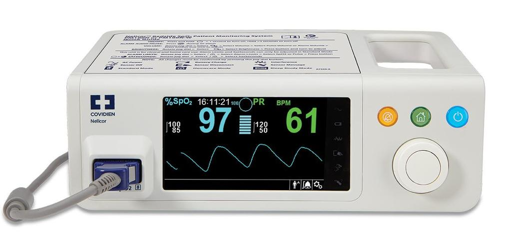 The Nellcor Bedside SpO 2 Patient Monitoring System, PM100N, is intended for prescription use only for continuous monitoring of functional arterial oxygen saturation and pulse rate of adult,