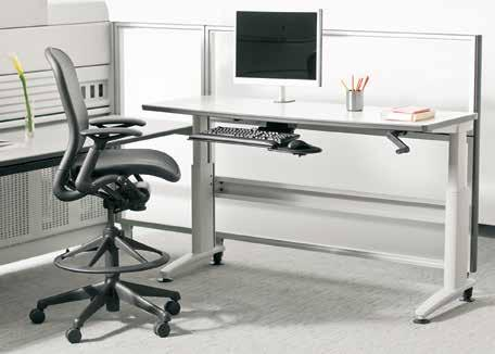 workspace, reducing discomfort by allowing users the freedom to sit