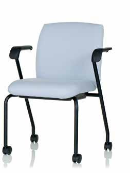 77S-2-FA-HC + also available with optional upholstered outer back 8 EWC Tech Side The EWC Tech side chair stacks 3-high on the floor.