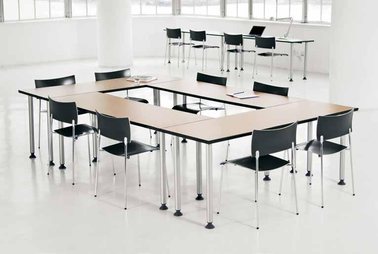 activity spaces / assembly / training tables 1 Easily configured and reconfigured, Knoll training tables feature ganging mechanisms with casters or glides, as well as complete cable management.