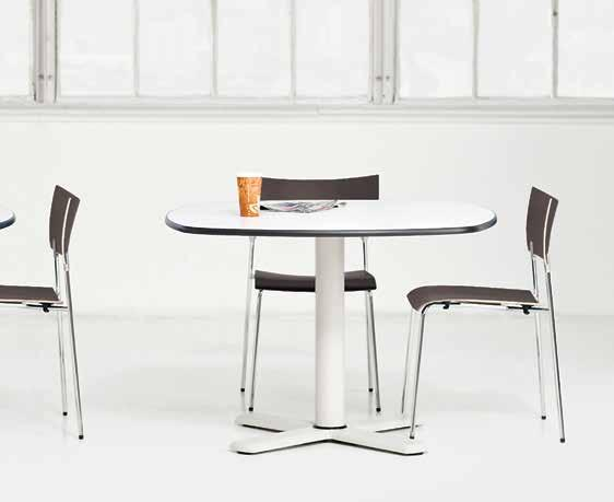 "5 Knoll café tables bring signature style to break rooms and common areas. 1 Saarinen Table Designed by Eero Saarinen. Available in 35 ¾"", 42 ¼"", and 47 ¼"" diameters and 96"" oval, 28 ¼""H."