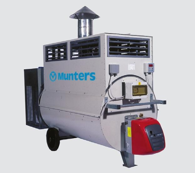 Mobile Air Heater GC EQUIPMENT GC High efficiency Protected against corrosion (housing is made from pre-coated galvanized steel, combustion chamber and heat exchanger are made from stainless steel)