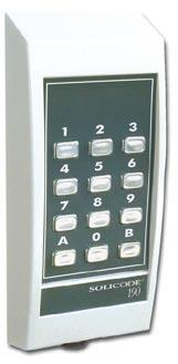 Access Control, Code Lock Compact Code Lock, Two Codes Solicode 190 Solicode 190 is a compact code lock easy to mount.
