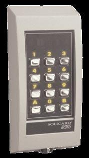 6390 I/F is equipped with inputs for a 3x4 X/Y matrix keypad, sabotage switch, and outputs for six LED:s and a buzzer.