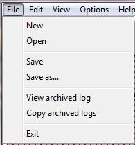 4.0 System Menus File Menu Create New Site File (Edit Mode Only) Open existing Site File Save