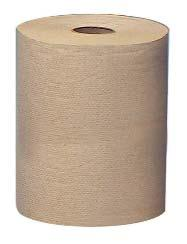 15400046 02021 8'' x 400', Natural, 1-Ply 12/cs. 15404150 04142 8'' x 800', Natural, 1-Ply 12/cs. Hardwound roll towels. 15403051 0305100 400', White 8/cs.