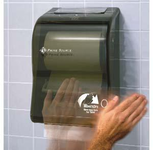 75004348 75004348 Black Translucent 1/ea. IN-SIGHT SERIES-I LEV-R-MATIC ROLL TOWEL DISPENSER New curved silhouette adds aesthetic appeal. Made of high-impact plastic with a smoked transparent cover.