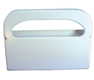 SAFE T GARD 1/2-FOLD SEATCOVER DISPENSER Plastic seat cover dispenser provides increased protection