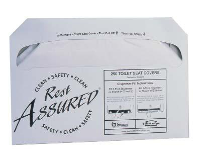 , 1/2 Fold, Smoke 1/ea. REST ASSURED TOILET SEAT COVERS 100% biodegradable. Flushable.
