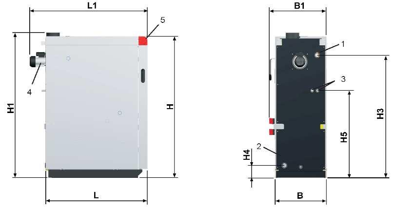 W 70 70 80 80 Boiler weight kg 520 525 610 620 Fuel loading door dimensions (w / h) mm 330/370 330/370 330/370 330/370 Fuel loading chaber capacity Litres 140 140 210 210 Water capacity Litres 120