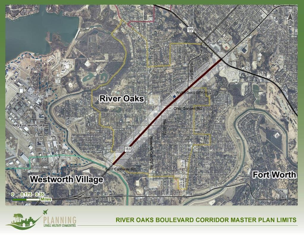 Scope of Services River Oaks Boulevard (SH 183) Corridor Master Plan PROJECT AREA The project area consists of the River Oaks Boulevard (SH 183) corridor bounded by SH 199 at the northern end and the