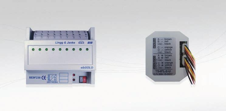 LINGG&JANKE Extensive selection of potential free inputs for DIN rail or in wall mounting, as well as 230VAC, 8 48VDC inputs.