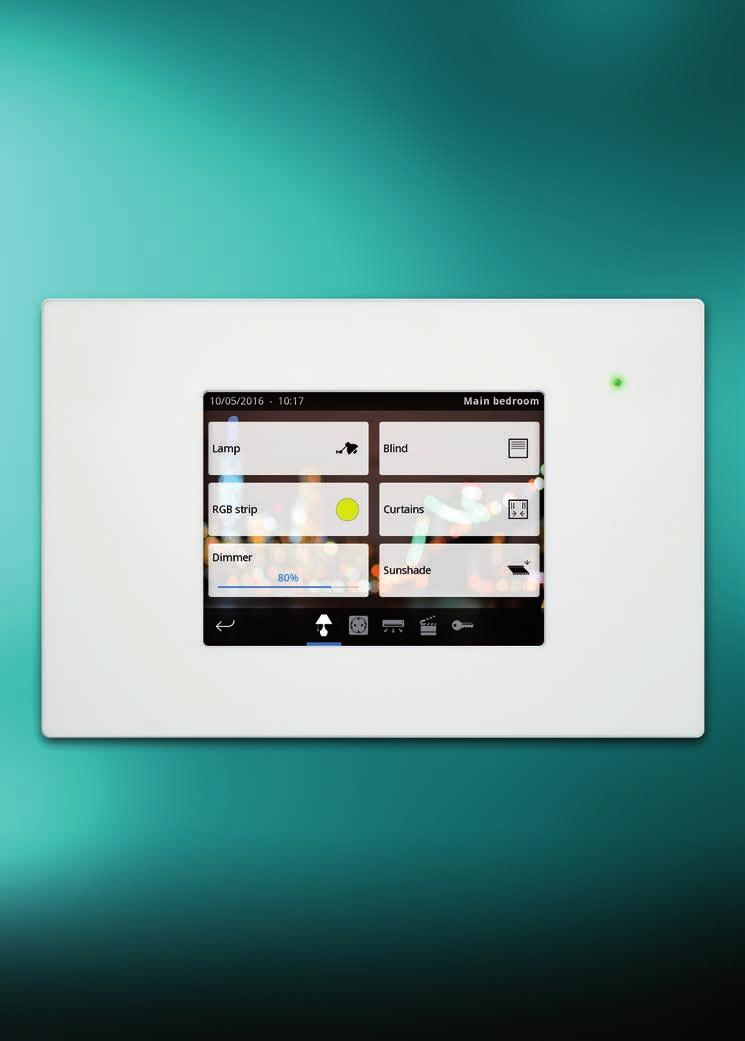 "VISUALIZATION HCi-KNX 5."" Touch Display with integrated web server Iddero Touch displays with simple and user friendly visualization and control interface."