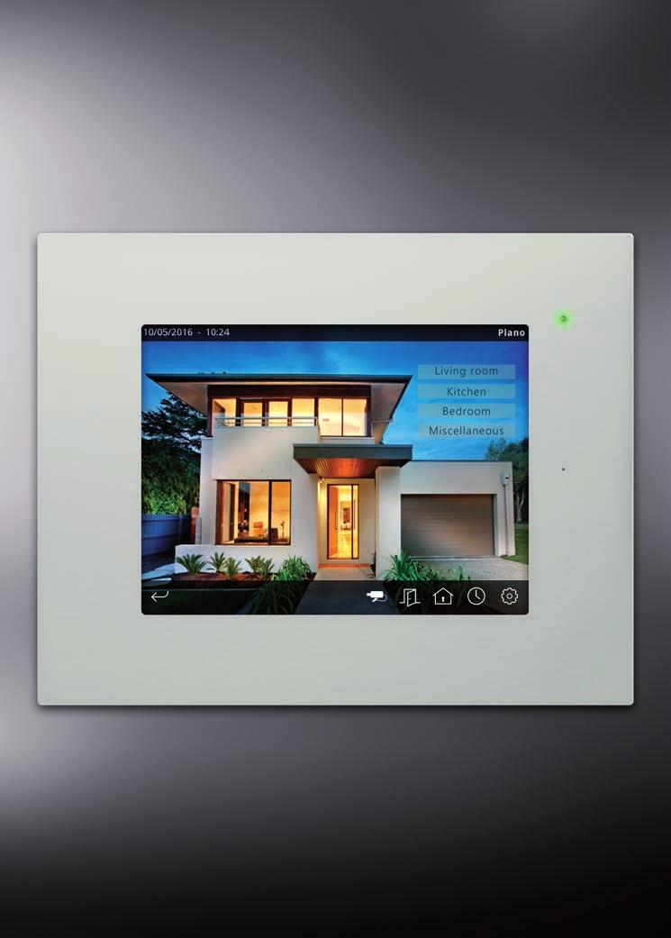 "VISUALIZATION HC2L-KNX 0"" Touch Display with integrated web server Iddero In addition to the functionality of the 5,"" HC KNX version, it has: 0"" TFT LED Colour panoramic touch display Integration of"
