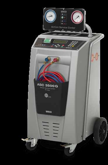 ASC 3500 G Low Emission ASC 3500 G Low Emission Sturdy metal housing Charging cylinder storage capacity: 26 kg, vacuum pump capacity 192 l/min Performance of the hermetic compressor 0,6 kw Humidity