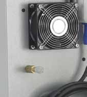 It only makes sense to use an external fan that draws fresh air in as a fan fitted inside the unit might lead to an inflammable mixture.
