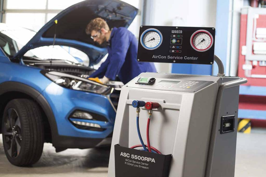 ASC 5500RPA ASC 5500RPA Low Emission LOW EMISSION SERVICE UNIT FOR R 1234YF WITH INTEGRATED GAS IDENTIFIER They may be only a few, but they are there the first new vehicle models with A/C systems