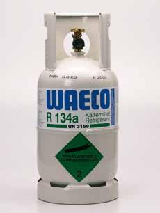 Refrigerants R 134A AND R 1234YF REFRIGERANT IN THE PROVEN REFILLABLE WAECO BOTTLE Quality by experience: the type-tested refillable WAECO bottle for R 134a refrigerant has proven itself in daily