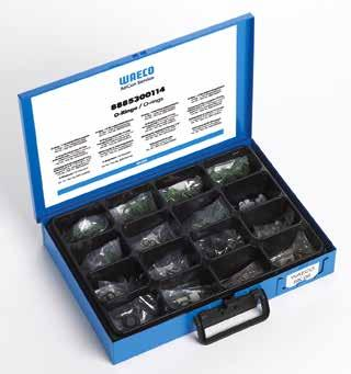 Workshop kits O-rings for R 134a refrigerant on retrofit A/C systems, 200 items This workshop kit contains all the O-rings needed for servicing work on retrofitted A/C systems Scope of delivery: 10