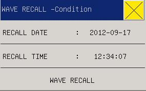 3.10 WAVE RECALL In MAIN MENU selected the WALL RECALL could be recall the parts information or