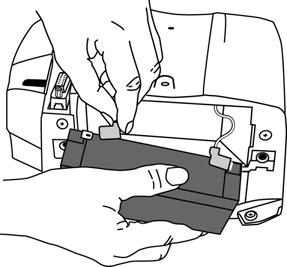 5. Insert the battery into the compartment. Appendix B 6. Then replace the cover, help card tray, and screws.