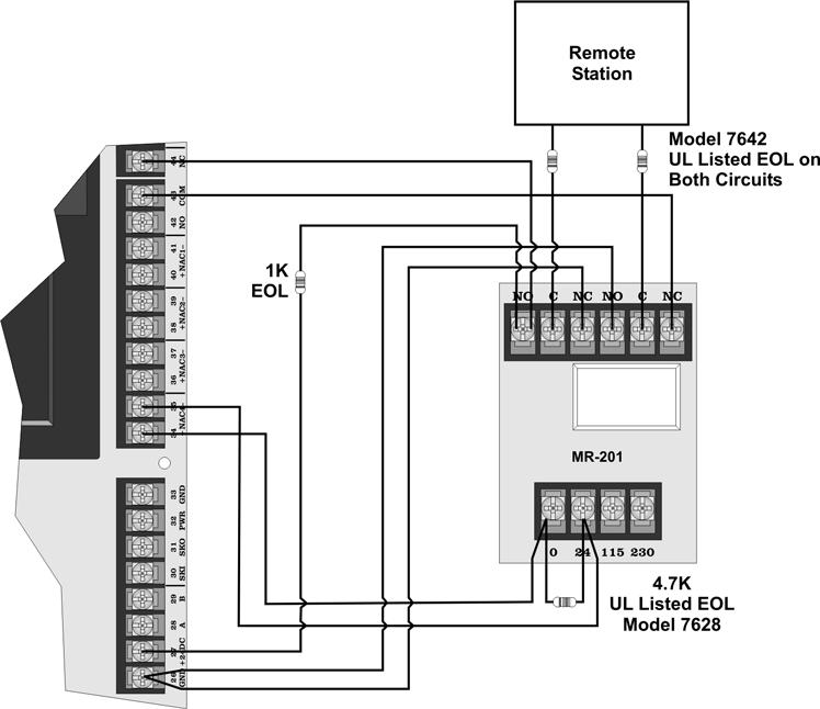 Model SK-5208 Installation Manual 151204 1. Wire the MR-201/T as shown in Figure 3-29.