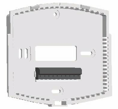 Thermostat Wallplate Figure 2 Release Tab R B E W2 G O Y2 Y1 L C Position wallplate on wall and pull existing wires through the large opening, then level for appearance.